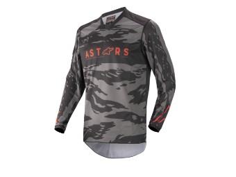 Crosshemd Alpinestars Racer Tactical Jersey 2022 black gray camo red