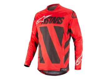 Crosshemd Alpinestars Racer Braap Jersey 2019 black/white/red