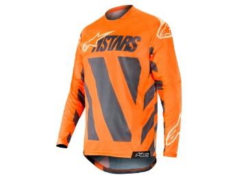 Crosshemd Alpinestars Racer Braap Jersey 2019 anthracite/orange-fluo