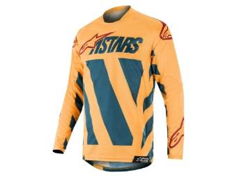 Crosshemd Alpinestars Racer Braap Jersey 2019 petrol/tan/maroon
