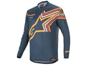 Crosshemd Alpinestars Racer Braap Jersey 2020 navy orange