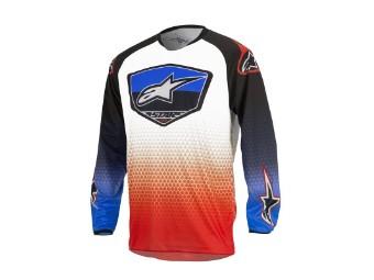 Crosshemd Alpinestars Racer Supermatic Jersey 2017 red/blue/white