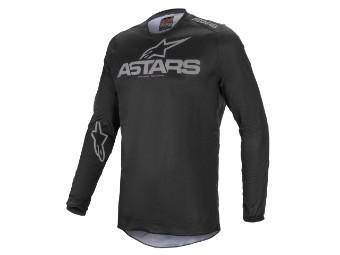 Crosshemd Alpinestars Fluid Graphite Jersey 2021 black dark grey