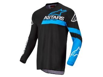 Crosshemd Alpinestars Fluid Chaser Jersey 2022 black blue neon