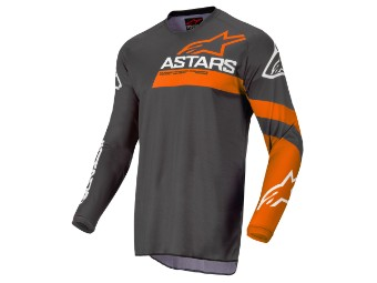 Crosshemd Alpinestars Fluid Chaser Jersey 2022 anthracite coral fluo