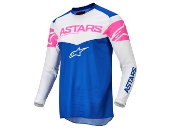 Crosshemd Alpinestars Fluid Tripple Jersey 2022 blue off white pink fluo