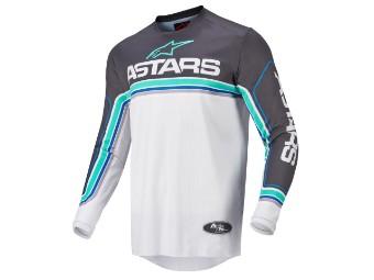 Crosshemd Alpinestars Fluid Speed Jersey 2022 anthracite light gray blue