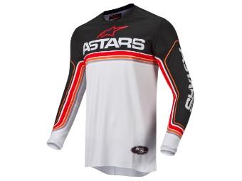 Crosshemd Alpinestars Fluid Speed Jersey 2022 black light gray bright red