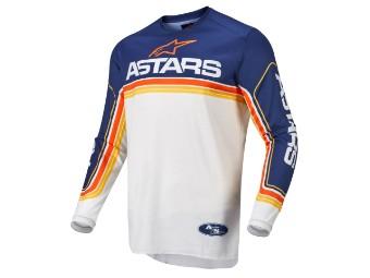 Crosshemd Alpinestars Fluid Speed Jersey 2022 dark blue off white orange