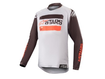 Crosshemd Alpinestars Youth Racer Tactical Jersey black / grey / red fluo