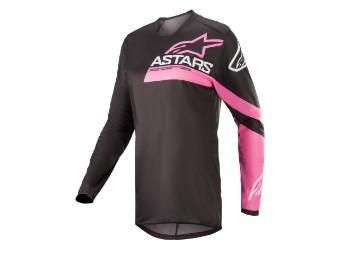 Crosshemd Alpinestars Stella Fluid Chaser Jersey Lady 2022 blue pink fluo