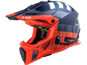 Crosshelm LS2 MX 437 Fast Evo X-Code Matt Fluo Orange Blue