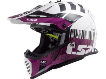 Crosshelm LS2 MX 437 Fast Evo X-Code White Purple