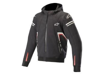 Motorradjacke Alpinestars Sektor Tech V2 Hoodie schwarz/rot