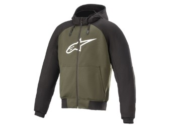 Kapuzenjacke Alpinestars Chrome Aramid Sport Hoodie black forest