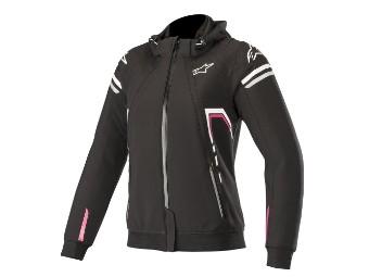 Motorradjacke Alpinestars Stella Sektor Tech Hoodie Lady schwarz pink
