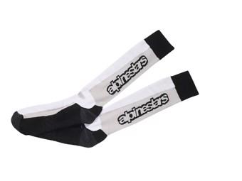 Socken Alpinestars Touring Summer Socks schwarz weiß
