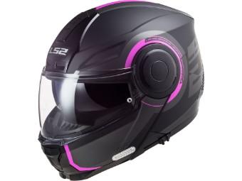 Klapphelm LS2 FF902 Scope Arch Pink schwarz pink matt