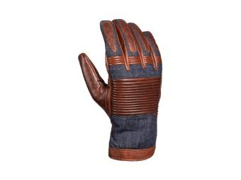 Motorradhandschuhe John Doe Durango XTM Fiber brown jeans