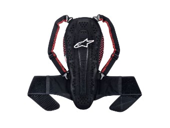 Nucleon KR-2 Backprotector black smoke red