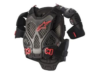 Protektorenjackenestars Bionic A6 Chest Protector Brustschutz black anthracite yellow