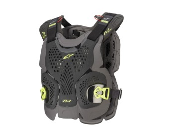 Protektorenweste Alpinestars Bionic A1-Plus Chest Protector Brustschutz black anthracite yellow