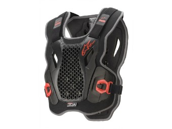 Protektorenweste Alpinestars Bionic Action Chest Protector Brustschutz black red