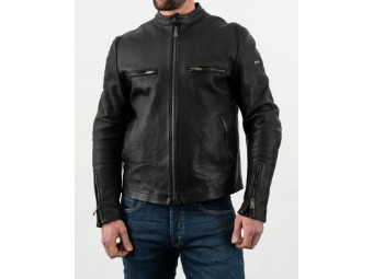 Motorradjacke Rokker Commander Leather Jacket schwarz