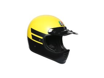 Helm AGV Legends X101 Dust Matt Yellow Black