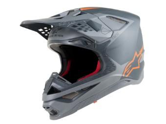 Crosshelm Alpinestars Supertech SM10 Meta Matt Grey Orange