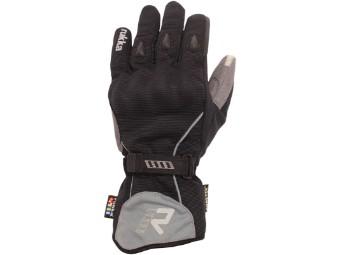 Virium Gore Tex Motorradhandschuhe schwarz grau