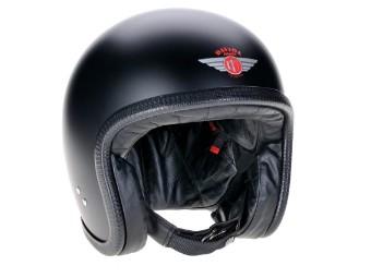 Speedster V3 Schwarz Matt Open Face Helm Jethelm Motorradhelm