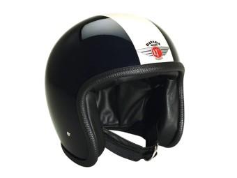 Speedster V3 Schwarz Weiß Glanz Open Face Helm Jethelm Motorradhelm
