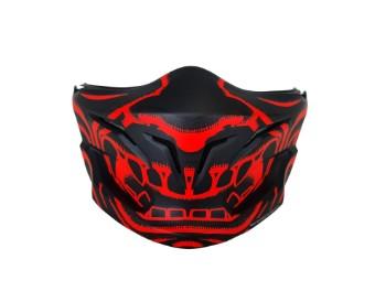 Kinnteil Maske Scorpion Exo Combat Evo Mask Samurai Neonred Black Matt