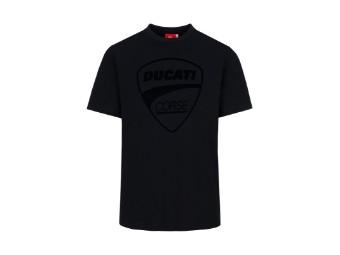 T-Shirt Ducati Corse Tonal Logo schwarz, beflockt