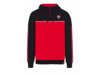 Kapuzenjacke Ducati Corse Zip Hoodie schwarz rot grau