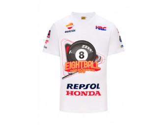 T-Shirt MM93 Marc Marquez Eight Ball World Champion 2019 MotoGP