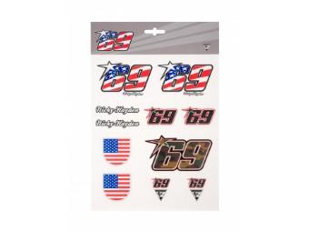 Stickerset Nicky Hayden MotoGP 69 Big Stickers