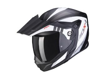 Klapphelm Scorpion ADX-1 Lontano matt weiß schwarz