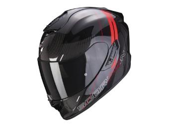 Helm Scorpion EXO 1400 Carbon Air Drik schwarz rot