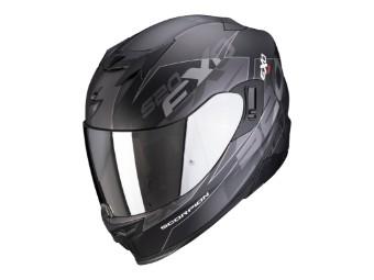 Helm Scorpion EXO 520 Air Cover Schwarz Matt Silber
