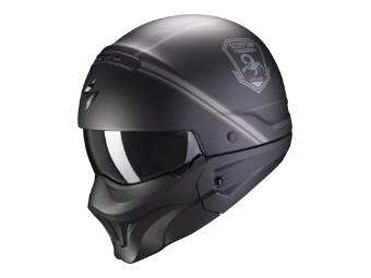Helm Scorpion Exo Combat Evo Unborn matt schwarz silber