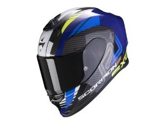 Helm Scorpion Exo R1 Air Halley blau neongelb