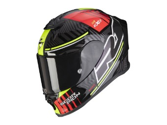 Helm Scorpion Exo R1 Air Victory Schwarz Silber Rot