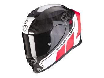 Helm Scorpion Exo R1 Carbon Air Corpus II Schwarz Neon Rot