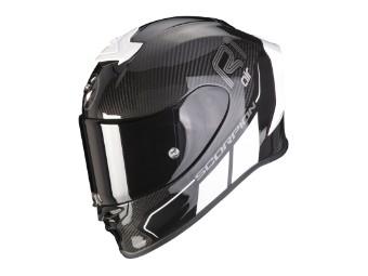 Helm Scorpion Exo R1 Carbon Air Corpus II Schwarz Weiß