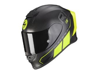 Helm Scorpion Exo R1 Carbon Air Corpus II Matt Schwarz Neon Gelb