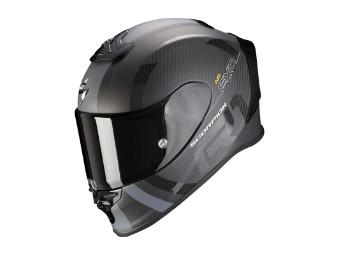Helm Scorpion Exo R1 Carbon Air MG Matt Schwarz Silber