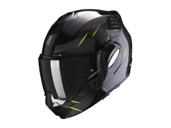 Klapphelm Scorpion Exo Tech Pulse schwarz gelb