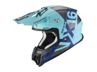 Crosshelm Scorpion VX 16 Air Mach blau silber matt MX Motocross